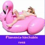 flamenco hinchable rosa